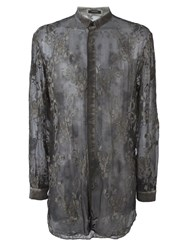 Unconditional Embroidered Silk Shirt Green