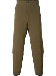 Alexander Mcqueen Cropped Trousers Green