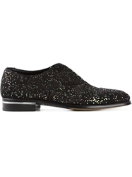 Alexander Mcqueen Speckled Oxfords Black