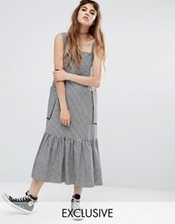 Reclaimed Vintage Drop Waist Dress In Gingham Check Multi