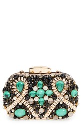 Natasha Couture Embellished Box Clutch