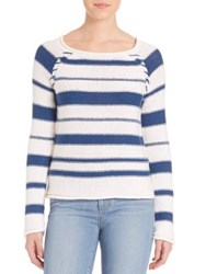 Paige Taryn Striped Sweater White Nocturnal
