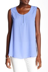 Pleione Rope Front Detail Tank Blue