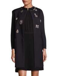 Dice Kayek Embellished Open Front Coat Black