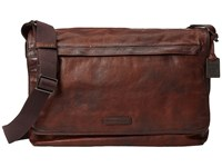 Frye Tyler Messenger Whiskey Vintage Pull Up Messenger Bags Brown