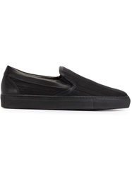 Pollini Textured Slip On Sneakers Black