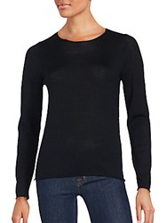 Zadig And Voltaire Solid Wool Long Sleeve Sweater Black