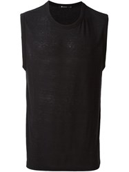 T By Alexander Wang Round Neck Tank Top Black