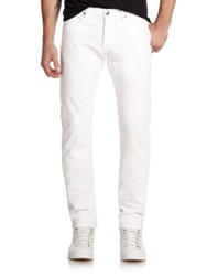 Frame L'homme Slim Fit Jeans White