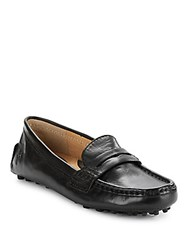 Frye Rebecca Leather Penny Loafers Black