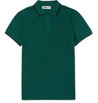 Mcq By Alexander Mcqueen Lim Fit Cotton Pique Polo Hirt Green