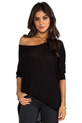 Daydreamer Dolman Tee With Fitted Sleeves Black