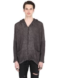 Isabel Benenato Wrinkled Cotton And Linen Sweatshirt