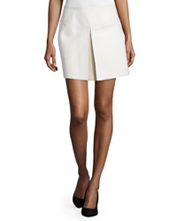 Cnc Costume National Mid Rise Leather Skirt White Women's