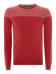 Duck And Cover Ramirez 2 Crew Neck Knitwear Red