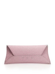 Vbh Manila Stretch Sparkle Envelope Clutch Pink