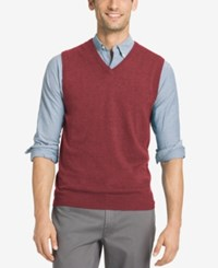 Izod Men's Campus Sweater Vest Red Dahlia