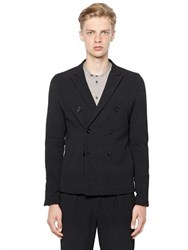 Emporio Armani Check Textured Techno Blend Jacket