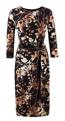 Grace Made In Britain Print Dress Gold