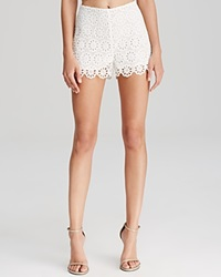 Lucy Paris Shorts Scalloped Lace White