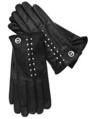 Michael Michael Kors Leather Tech Touch Astor Studded Gloves