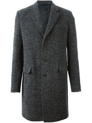 Ermanno Scervino Single Breasted Coat Grey