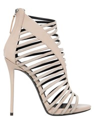 Giuseppe Zanotti 110Mm Suede And Patent Cage Sandals