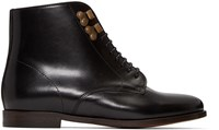 A.P.C. Black Leather Fran Oise Boots