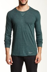 Bottoms Out Crew Neck Long Sleeve Tee Green