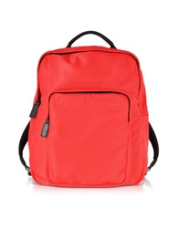 Dsquared Antony Red Nylon Backpack