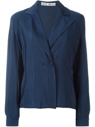 Jean Louis Scherrer Vintage Striped Jacket Blue