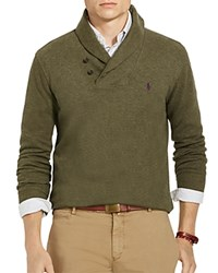 Polo Ralph Lauren Ribbed Cotton Shawl Collar Sweater Alpine Heather