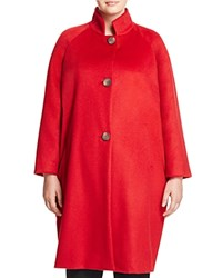 Marina Rinaldi Oriana Stand Collar Coat Red