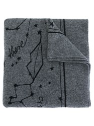 Lala Berlin Constellation Intarsia Scarf Grey