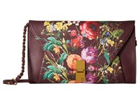 Elliott Lucca Cordoba Clutch Black Cherry Autumn Botanica Clutch Handbags Brown