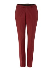 Label Lab Men's Rutherford Skinny Suit Trouser Red