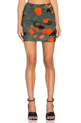 Hemant And Nandita Embroidered Camo Mini Skirt Green