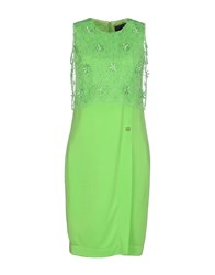 Class Roberto Cavalli Dresses Knee Length Dresses Women Light Green