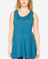 A Pea In The Pod Maternity Sleeveless Tunic Deep Turquoise