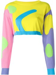 Jeremy Scott Cropped Knit Jumper
