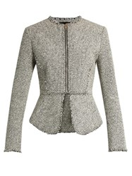 Alexander Wang Peplum Tweed Jacket Grey Multi