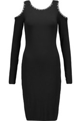 Bailey 44 Cutout Chain Trimmed Stretch Jersey Dress Black
