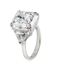 Carat Premier Asscher Trilogy Ring Female Silver