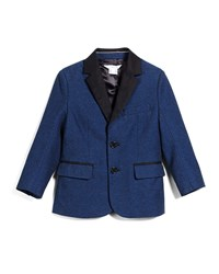Little Marc Jacobs Trim Fit Cotton Blend Sport Coat Navy