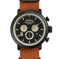 Shinola Runwell Contrast Chronograph 47Mm Watch Brown