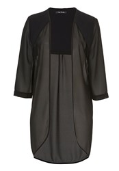 Betty Barclay Sheer Blouse With Three Quarter Sleeves Black