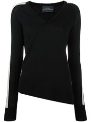 Loma 'Lexi' Striped Sleeve Jumper Black