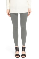 Eileen Fisher Women's Tencel Fleece Ankle Leggings Dark Pearl
