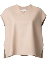 Studio Nicholson V Neck Boxy T Shirt Brown