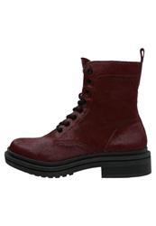 Calvin Klein Jeans Florissa Laceup Boots Ruby Dark Red
